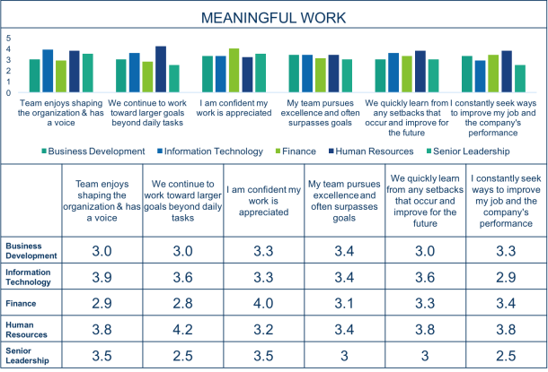 Employee Engagement Survey Results - Meaningful Work